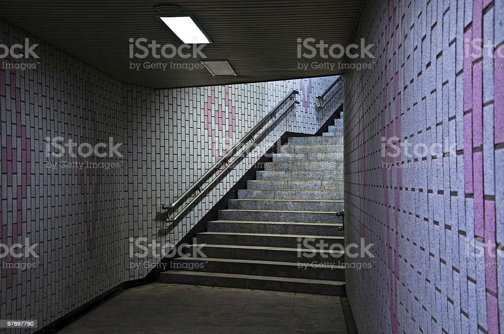 Subway Exit royalty-free stock photo