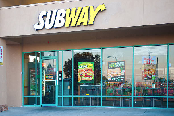 metropolitana di fast food - subway foto e immagini stock