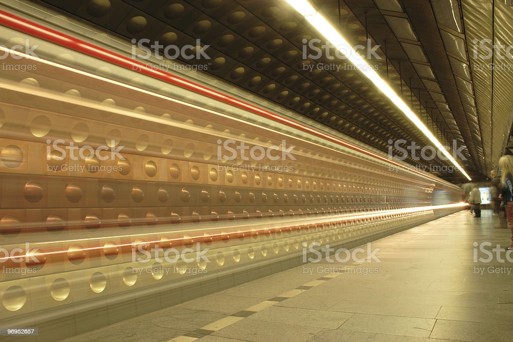 subway from the Prague royalty-free stock photo