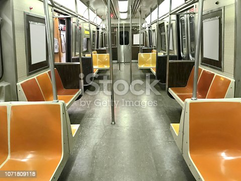 Subway interior in New York