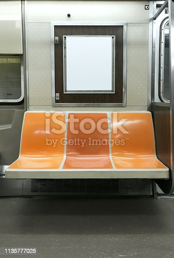 Subway interior in New York