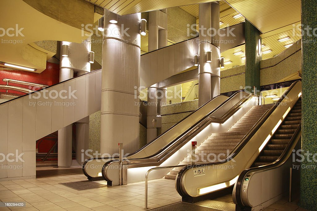 Subway interior royalty-free stock photo