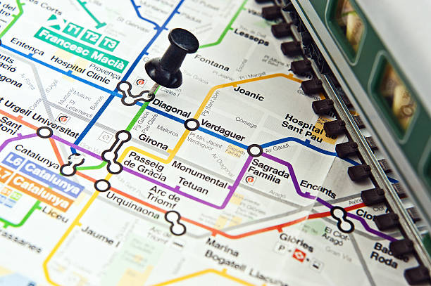 U-Bahn-Karte Barcelona city – Foto