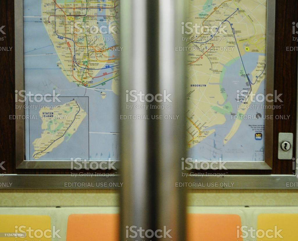 Ny Subway Map Background.Nyc Subway Map City Public Transportation Mta Train Background Stock