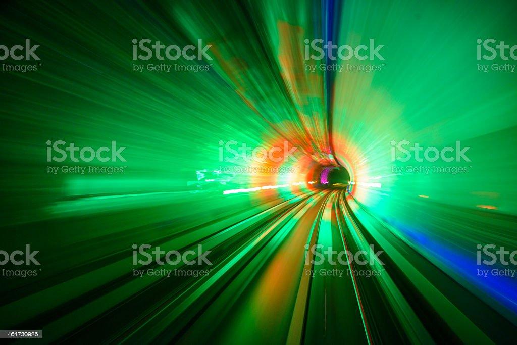 Subway motion blur stock photo