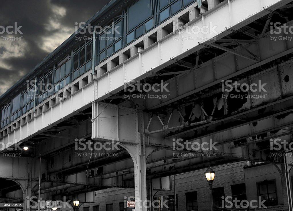 NYC Subway Overpass stock photo