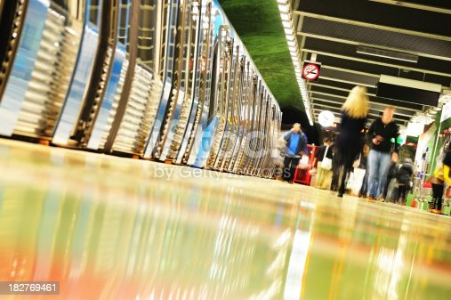 172864410istockphoto Subway passengers entering and exiting 182769461