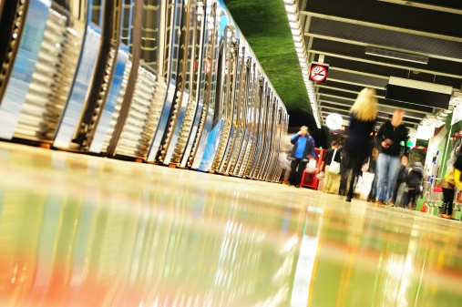 172864410 istock photo Subway passengers entering and exiting 182769461