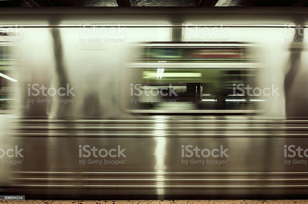NYC Subway stock photo