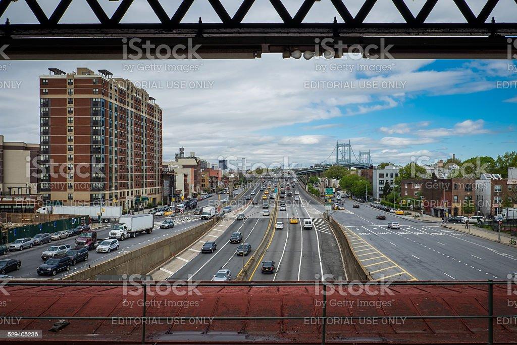 Subway Platform In Astoria Queens stock photo