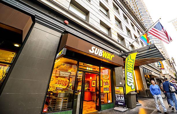 ristorante della metropolitana di san francisco - subway foto e immagini stock