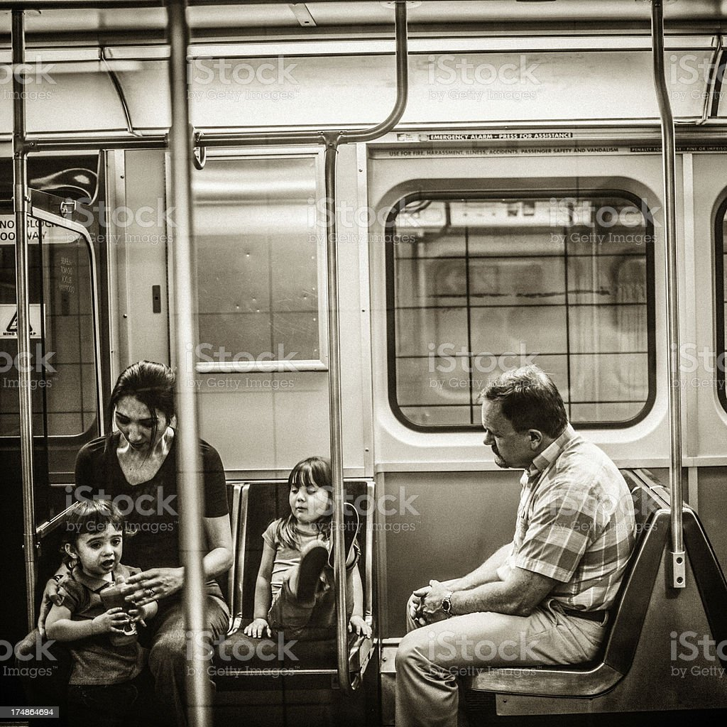 Subway ride royalty-free stock photo