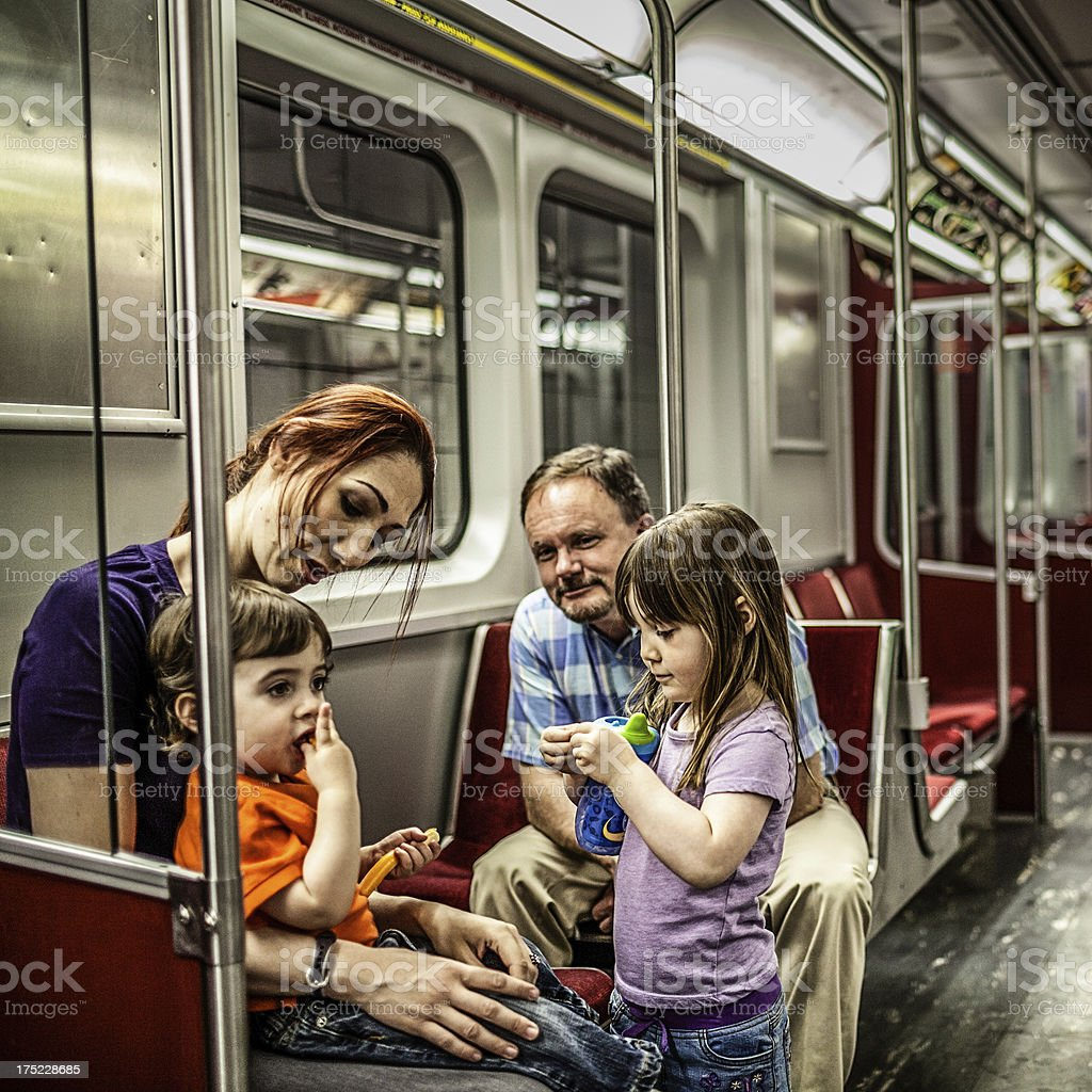 Subway ride royalty-free stock photo