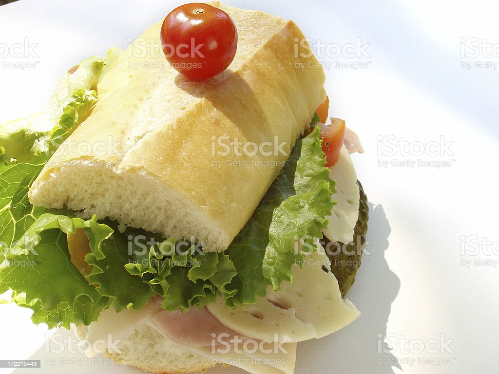 Subway Sandwich - Isolated royalty-free stock photo