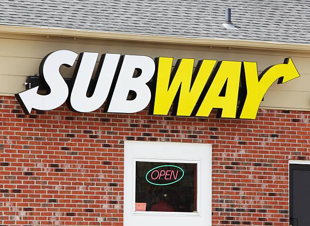 sandwich shop logo della metropolitana di - subway foto e immagini stock