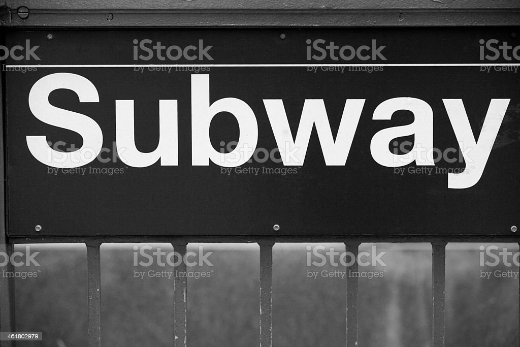 Subway sign in New York City stock photo