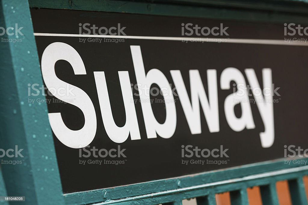 Subway sign in New York City, USA royalty-free stock photo