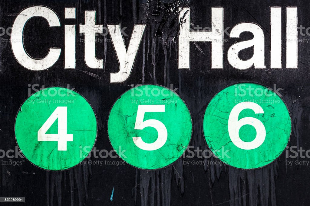 NYC Subway Sign stock photo