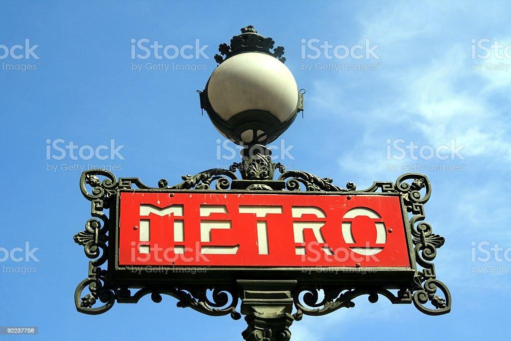 Subway Sign royalty-free stock photo