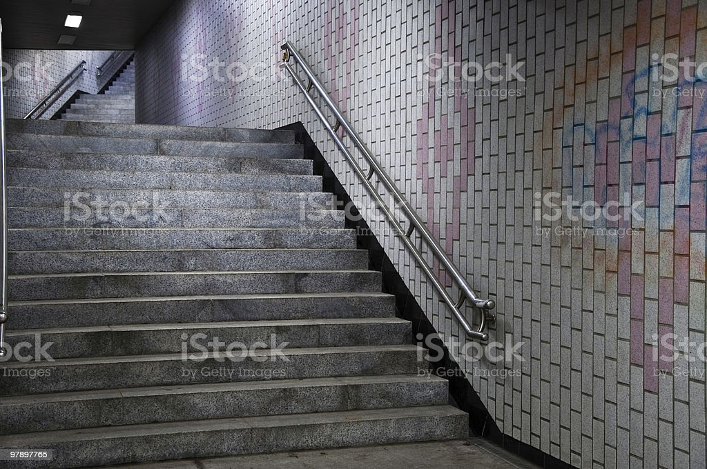 Subway Stairs I royalty-free stock photo