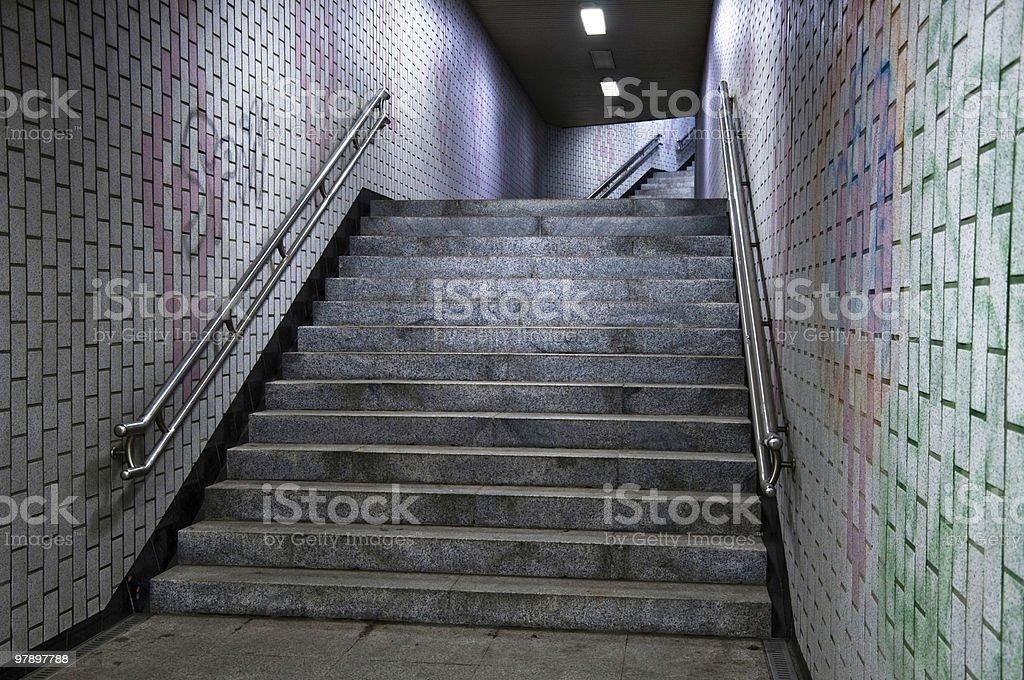 Subway Stairs royalty-free stock photo