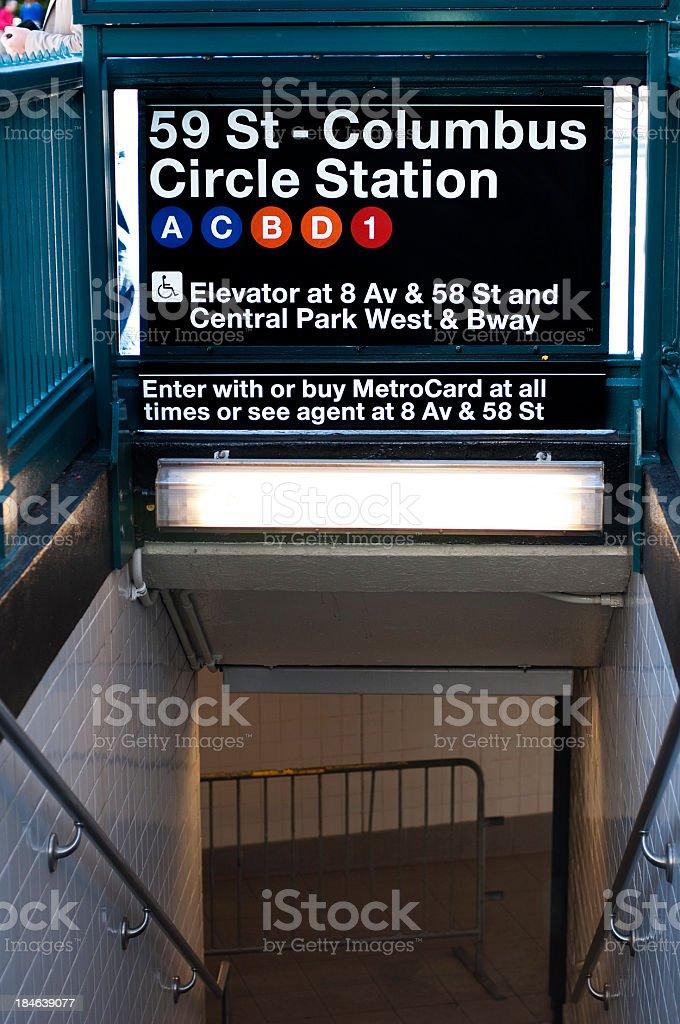 Subway Station at Columbus Circle stock photo