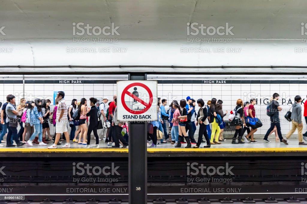 Subway Station -  High Park stock photo