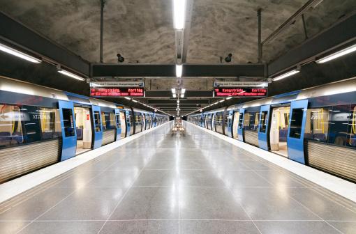 Stockholm subway station Hjulsta