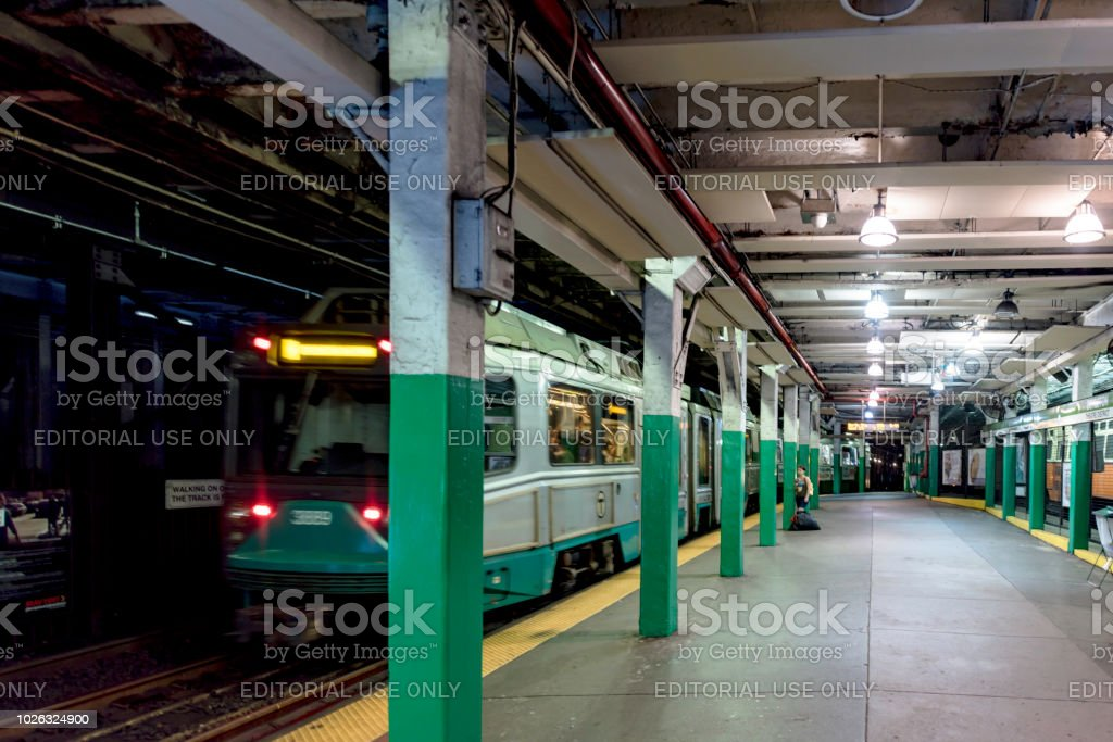 Subway Station In Boston Stock Photo - Download Image Now
