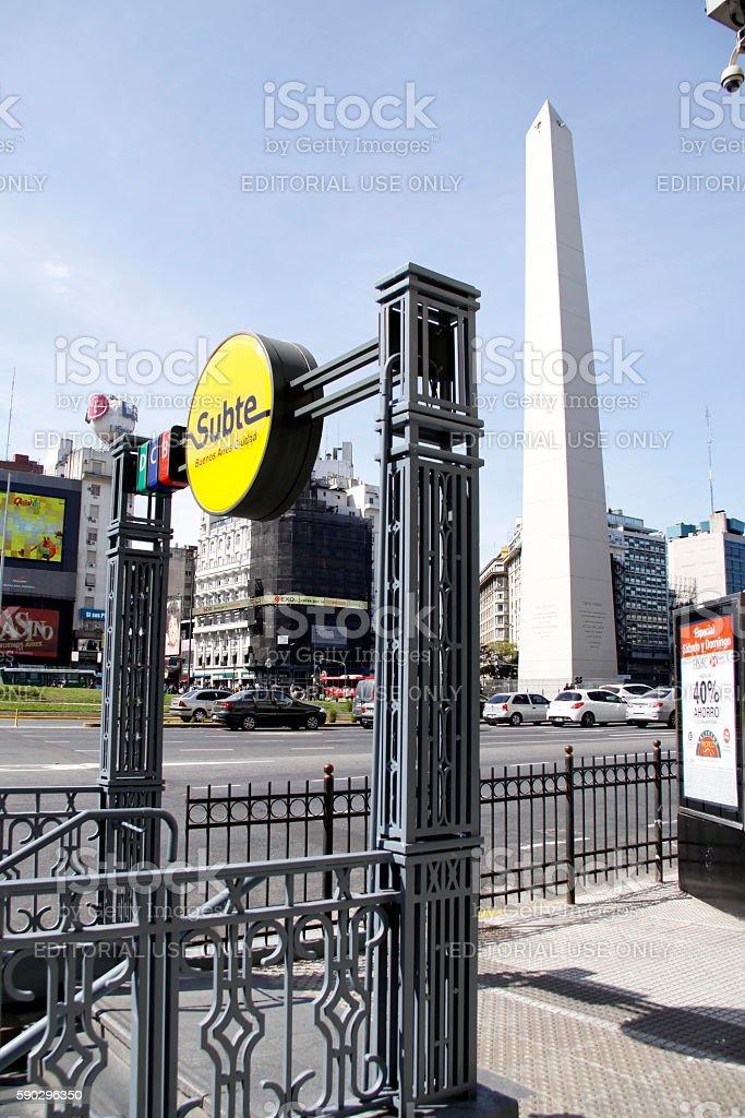 subway station in Buenos Aires royaltyfri bildbanksbilder