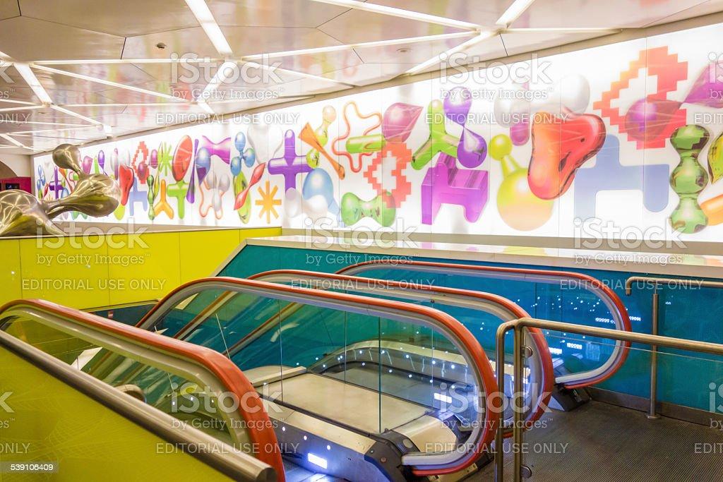 Subway Station in Naples, Italy stock photo