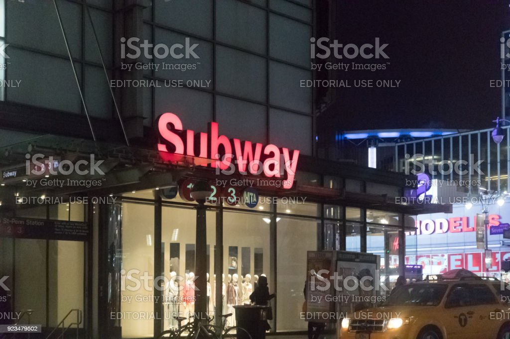 subway station in New York City stock photo
