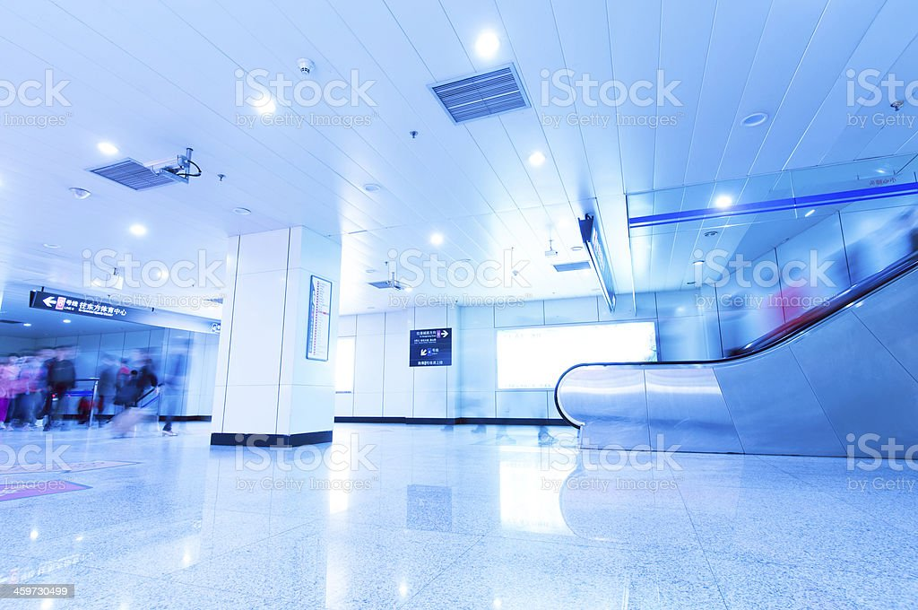 subway station in Shanghai stock photo