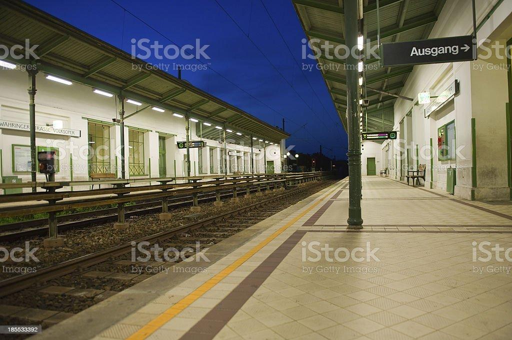 Subway station in Vienna royalty-free stock photo