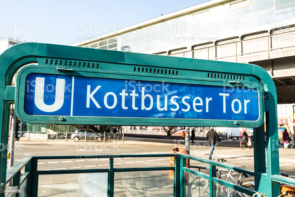 U-Bahn Station Kottbusser Tor in Berlin stock photo