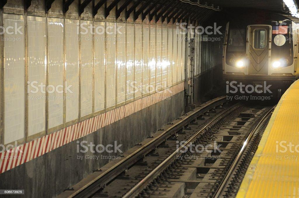Subway Station - New York City stock photo