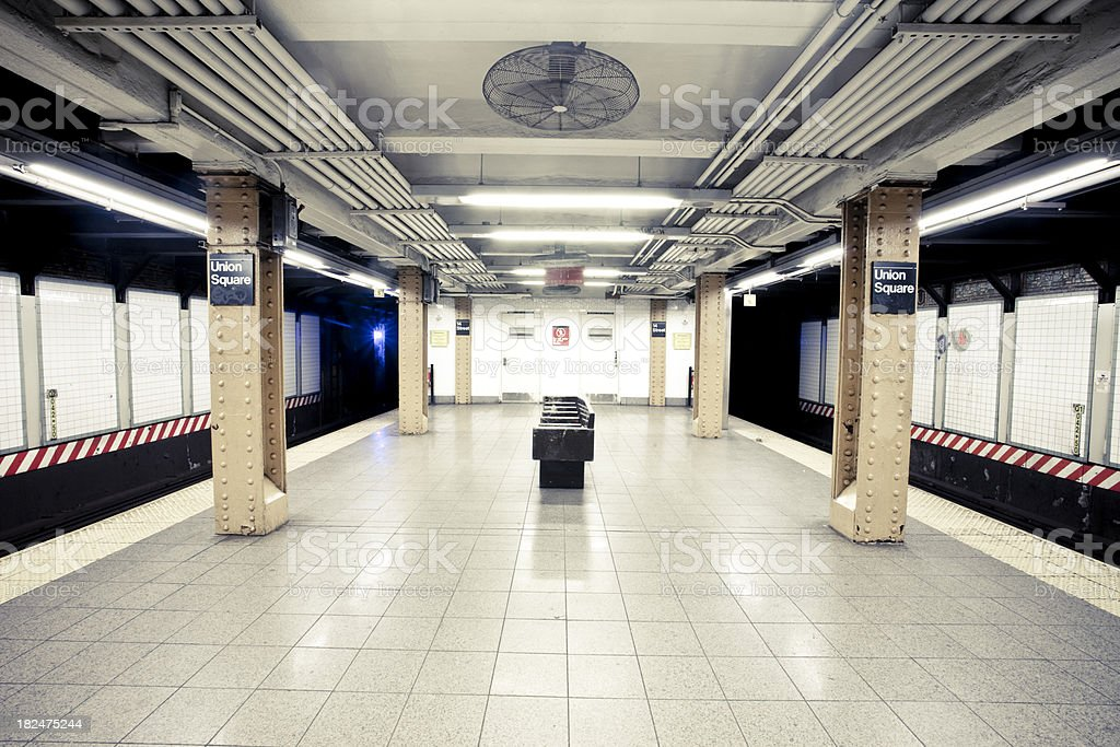 NYC Subway Station royalty-free stock photo