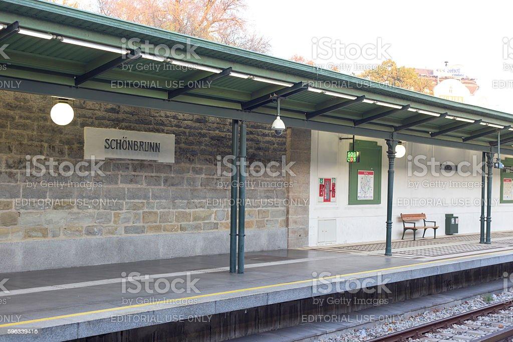 subway station platform of Schonbrunn royalty-free stock photo