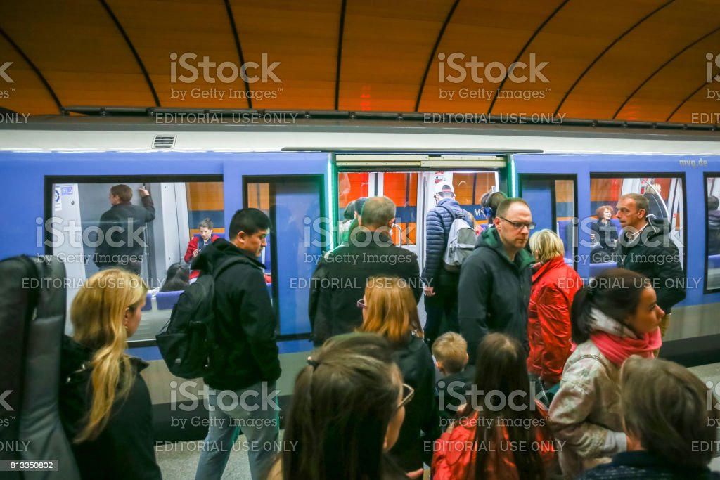 Subway system in Munich stock photo