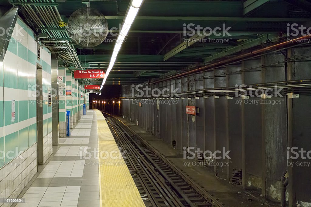 Subway Track stock photo
