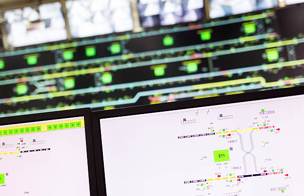 subway traffic control center - control room stock photos and pictures
