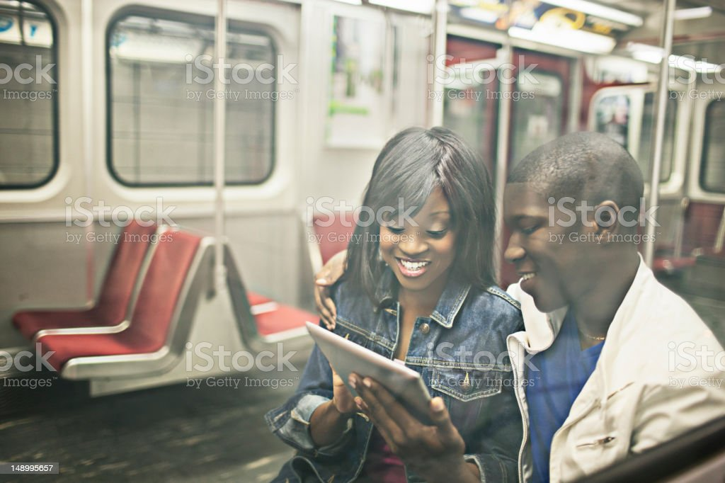 Subway train habit royalty-free stock photo