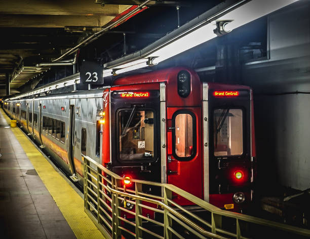 Subway Train in Grand Central Station stock photo