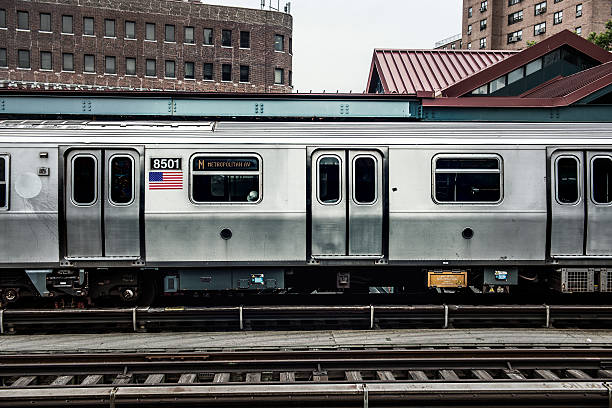 Subway Train in New York Subway Train in New York subway platform stock pictures, royalty-free photos & images