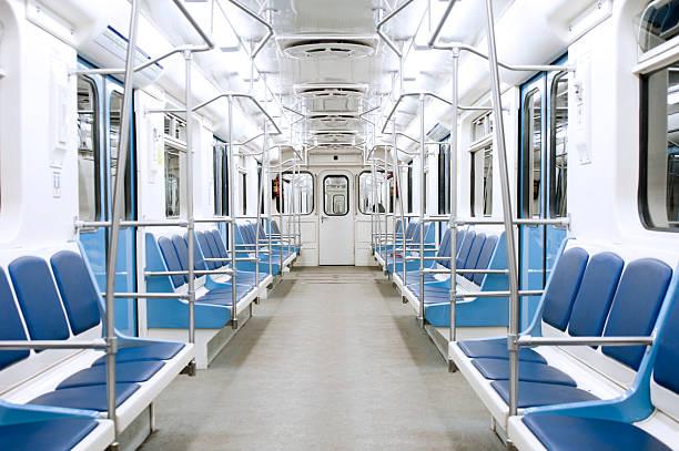 subway train interior - 火車車廂 個照片及圖片檔