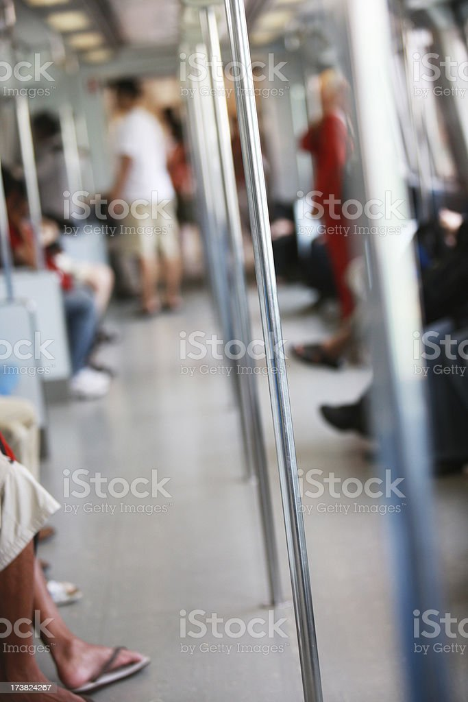 Subway train royalty-free stock photo