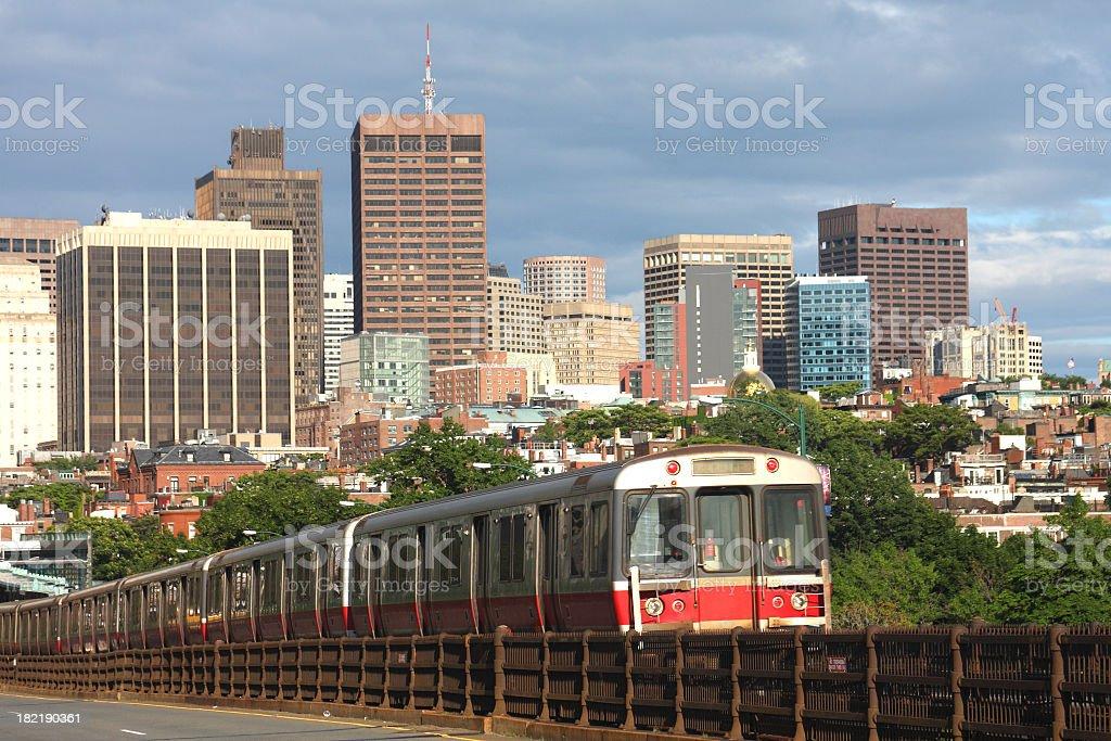 Subway Train royalty-free stock photo