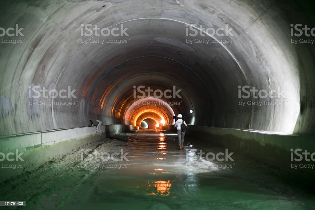 Subway Tunnel Construction stock photo
