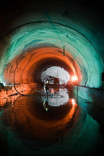 U-Bahn Tunnel Konstruktion – Foto