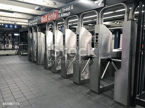 Subway Turnstiles in New York